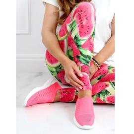 Buty sportowe skarpetkowe różowe 9862 Fushia 1