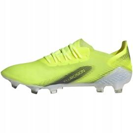 Buty piłkarskie adidas X Ghosted.1 Fg M FW6898 zielone zielony, żółty, neon 2