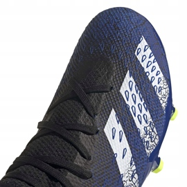 Buty piłkarskie adidas Predator Freak.3 L Fg granatowo-czarno-zielone FY0615 czarne czarne 4