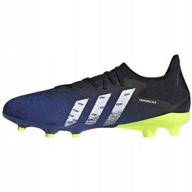 Buty piłkarskie adidas Predator Freak.3 L Fg granatowo-czarno-zielone FY0615 czarne czarne 1