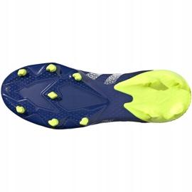 Buty piłkarskie adidas Predator Freak.3 L Fg granatowo-czarno-zielone FY0615 czarne czarne 3