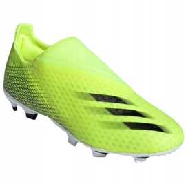 Buty piłkarskie adidas X Ghosted.3 Ll Fg M FW6969 żółte wielokolorowe 4
