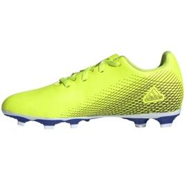 Buty piłkarskie adidas X Ghosted.4 FxG Jr FW6933 żółte wielokolorowe 1