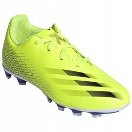Buty piłkarskie adidas X Ghosted.4 FxG Jr FW6933 żółte wielokolorowe 3