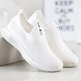 SHELOVET Wygodne Tekstylne Sneakersy białe 1