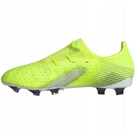 Buty piłkarskie adidas X Ghosted.2 Fg M FW6958 zielone biały, żółto-zielony neon 1