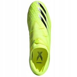 Buty piłkarskie adidas X Ghosted.2 Fg M FW6958 zielone biały, żółto-zielony neon 2