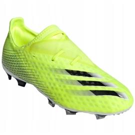 Buty piłkarskie adidas X Ghosted.2 Fg M FW6958 zielone biały, żółto-zielony neon 3