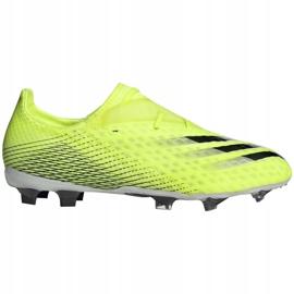Buty piłkarskie adidas X Ghosted.2 Fg M FW6958 zielone biały, żółto-zielony neon 4