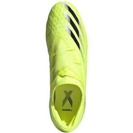Buty piłkarskie adidas X Ghosted.2 Fg M FW6958 zielone biały, żółto-zielony neon 5