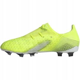 Buty piłkarskie adidas X Ghosted.2 Fg M FW6958 zielone biały, żółto-zielony neon 6