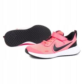 Buty Nike Revolution 5 Psv Jr BQ5672-602 białe różowe 1