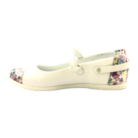 Balerinki dziewczęce kwiatki Bartek białe 2