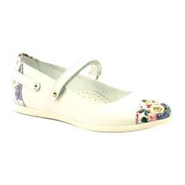 Balerinki dziewczęce kwiatki Bartek białe 1