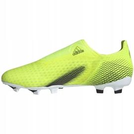 Buty piłkarskie adidas X Ghosted.3 Ll Fg żółto-czarne FW6969 żółte żółte 2