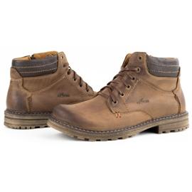 ABIS Ocieplane buty męskie 197 brązowe 6