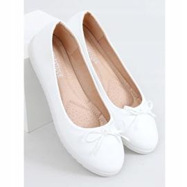 Baleriny damskie białe YSD826 White 3