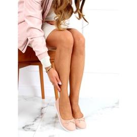 Baleriny damskie beżowo-różowe YSD826 Nude 1