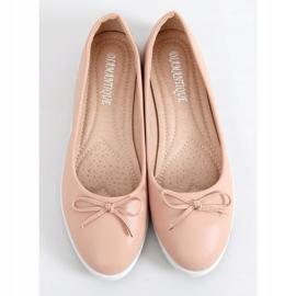 Baleriny damskie beżowo-różowe YSD826 Nude 3