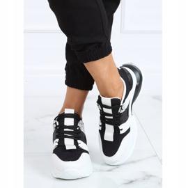 Buty sportowe damskie biało-czarne LA86P Black białe 2