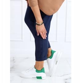 Trampki damskie biało-zielone SC36 WHITE/GREEN białe 1