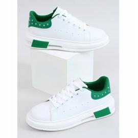 Trampki damskie biało-zielone SC36 WHITE/GREEN białe 4