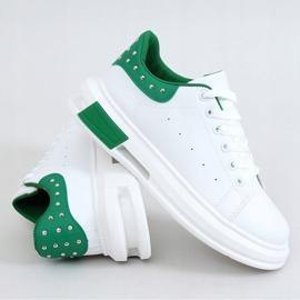 Trampki damskie biało-zielone SC36 WHITE/GREEN białe 5