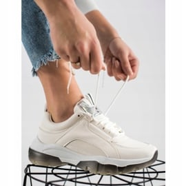 SHELOVET Białe Sneakersy Z Eko Skóry 2