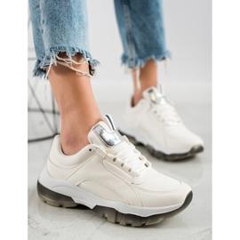 SHELOVET Białe Sneakersy Z Eko Skóry 1