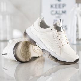 SHELOVET Białe Sneakersy Z Eko Skóry 3