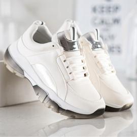SHELOVET Białe Sneakersy Z Eko Skóry 4