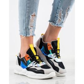 Bestelle Sneakersy Na Platformie Fashion czarne srebrny szare wielokolorowe 3