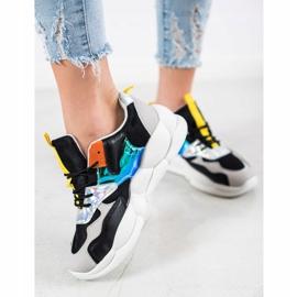 Bestelle Sneakersy Na Platformie Fashion czarne srebrny szare wielokolorowe 4