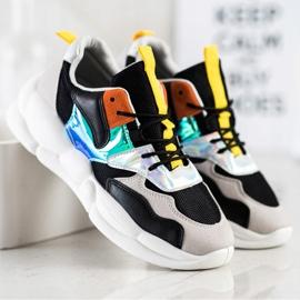Bestelle Sneakersy Na Platformie Fashion czarne srebrny szare wielokolorowe 1