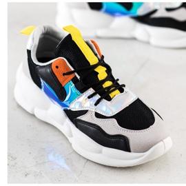 Bestelle Sneakersy Na Platformie Fashion czarne srebrny szare wielokolorowe 2