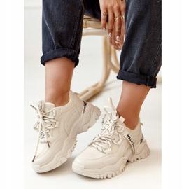 PS1 Damskie Sneakersy Na Masywnej Podeszwie Beżowe Chunky beżowy 2