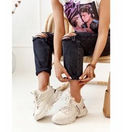 PS1 Damskie Sneakersy Na Masywnej Podeszwie Beżowe Chunky beżowy 5