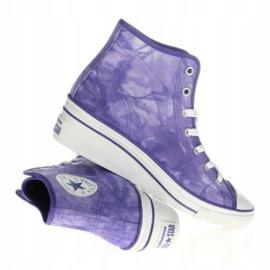 Trampki Converse Chuck Taylor Side W 542469F białe fioletowe 1