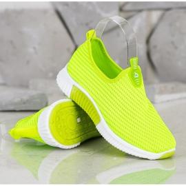 SHELOVET Wygodne Tekstylne Sneakersy zielone 2