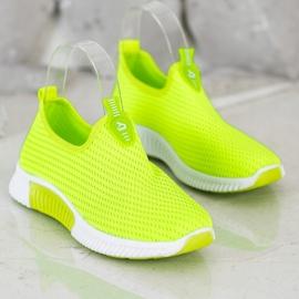 SHELOVET Wygodne Tekstylne Sneakersy zielone 3