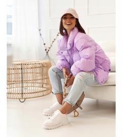PS1 Damskie Sneakersy Na Platformie Biało Różowe Riri białe 6