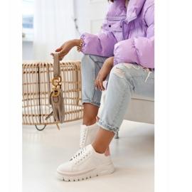 PS1 Damskie Sneakersy Na Platformie Biało Różowe Riri białe 7