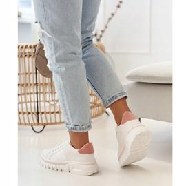 PS1 Damskie Sneakersy Na Platformie Biało Różowe Riri białe 9