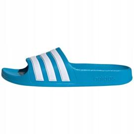 Klapki adidas adilette Aqua K FY8071 czarne niebieskie 1
