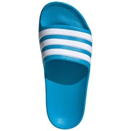 Klapki adidas adilette Aqua K FY8071 czarne niebieskie 2