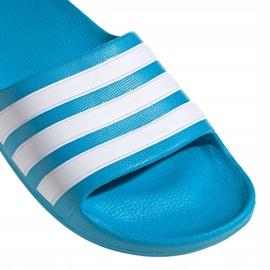 Klapki adidas adilette Aqua K FY8071 czarne niebieskie 3