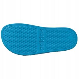 Klapki adidas adilette Aqua K FY8071 czarne niebieskie 4