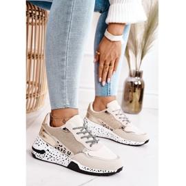 PS1 Damskie Sneakersy Na Koturnie Złote Avery beżowy 1