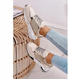 PS1 Damskie Sneakersy Na Koturnie Złote Avery beżowy 5