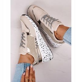 PS1 Damskie Sneakersy Na Koturnie Złote Avery beżowy 6